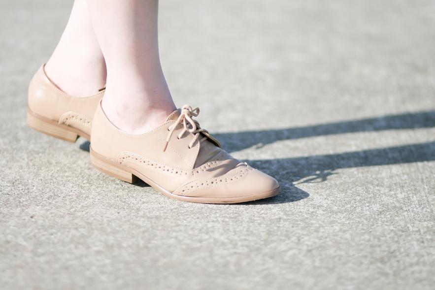 beige loafers fashion