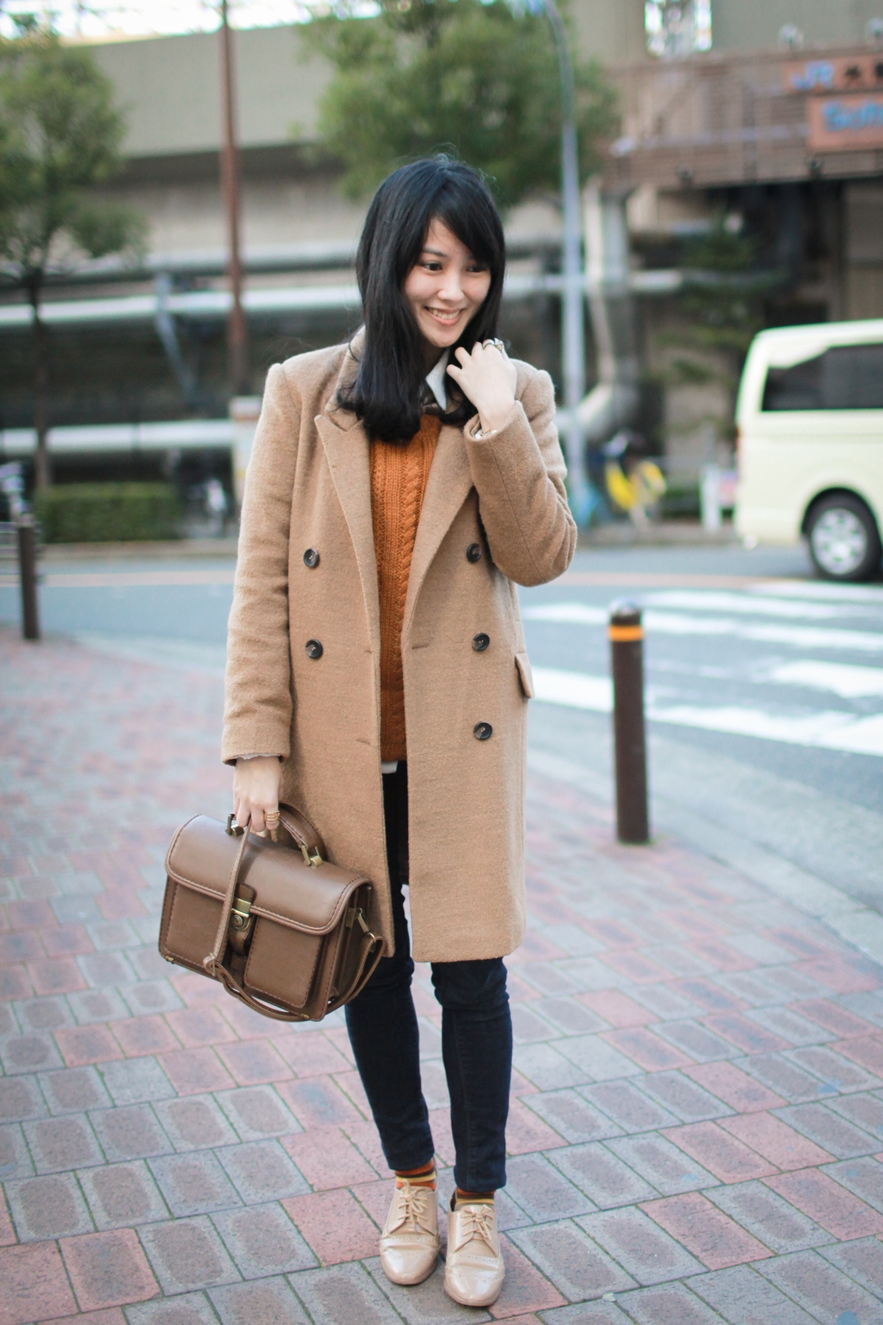 long line knee length coat