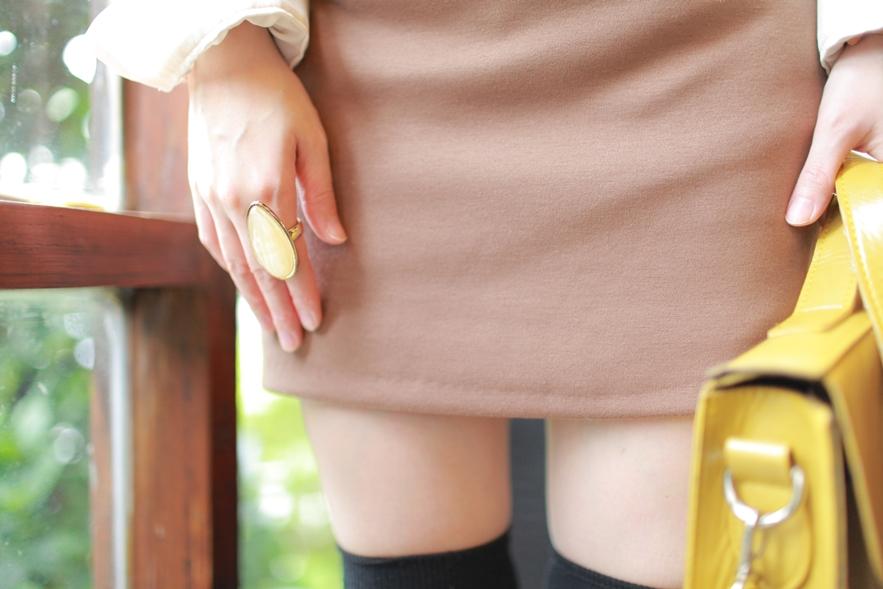 beige tan brown skirt