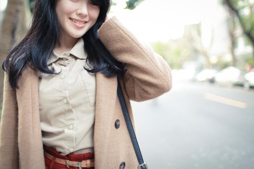 beige coat fashion