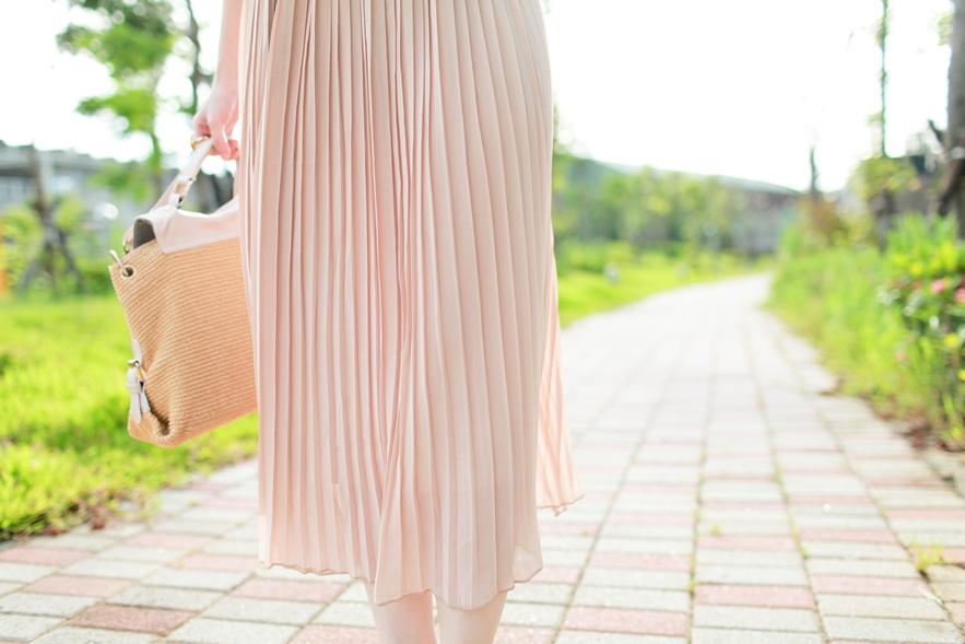 百折裙穿搭