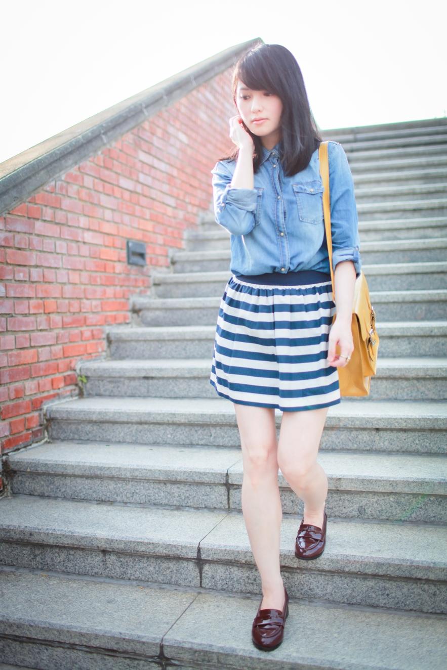 striped skirt summer