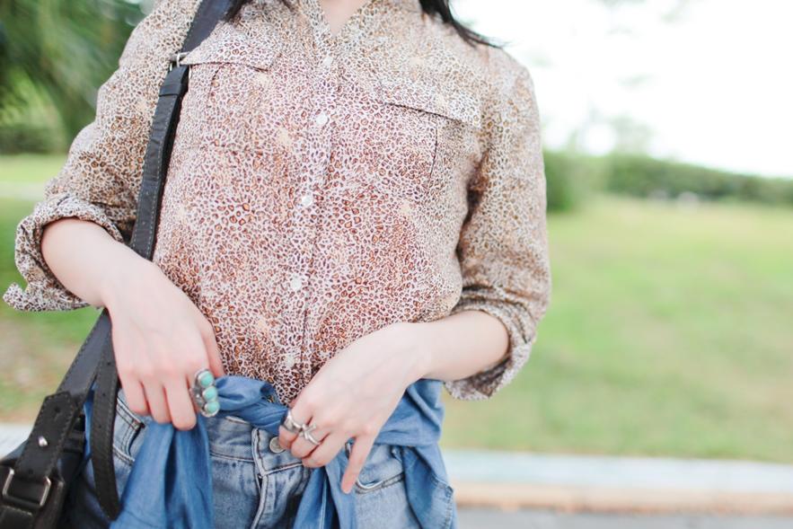 zara leopard blouse