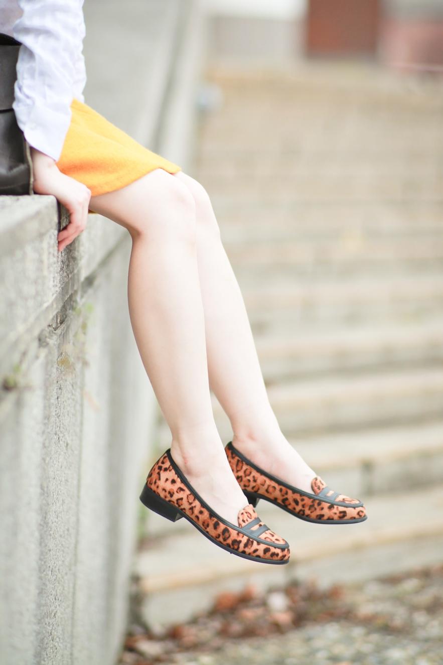 豹紋樂福鞋