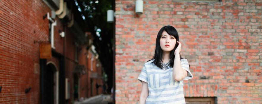 Dahlia Girl in Pastel Stripe Set 夏日輕盈感 清爽藍白條紋