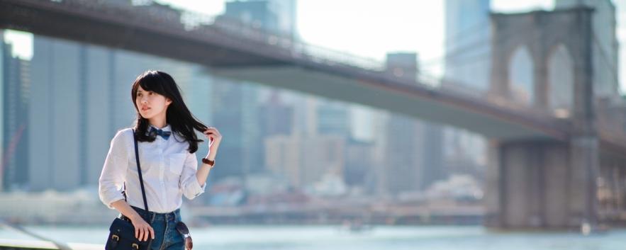 布魯克林大橋 美好散策以及穿衣誌 Brooklyn Bridge