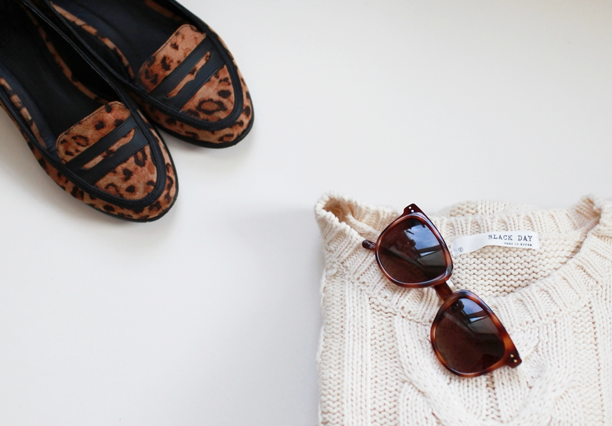 leopard loafers sunglasses