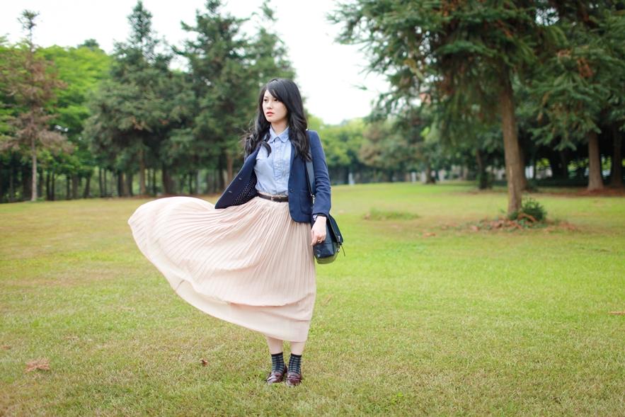 Maxi Pleated Skirt