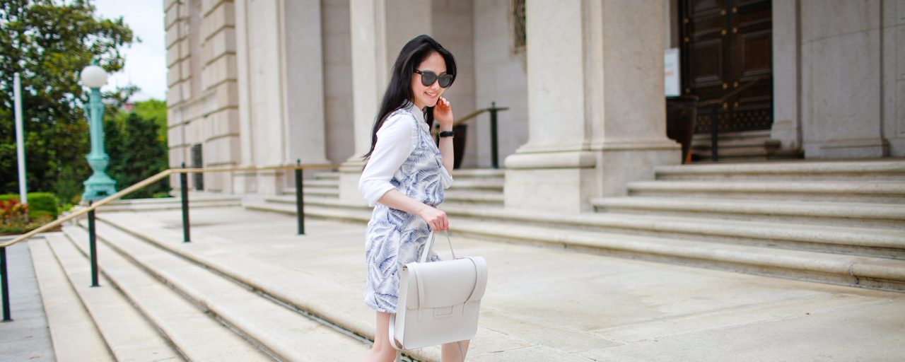 Travel Outfit | Summer Whites in Washington DC
