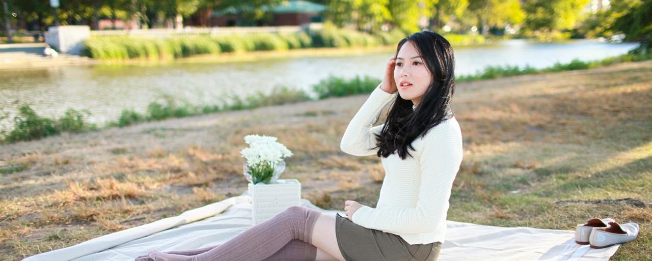 Fall Picnic|Denim Skirt & Jumper 秋日野餐誌
