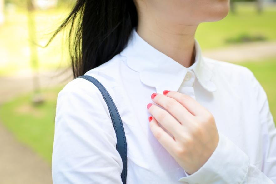 scalloped shirt