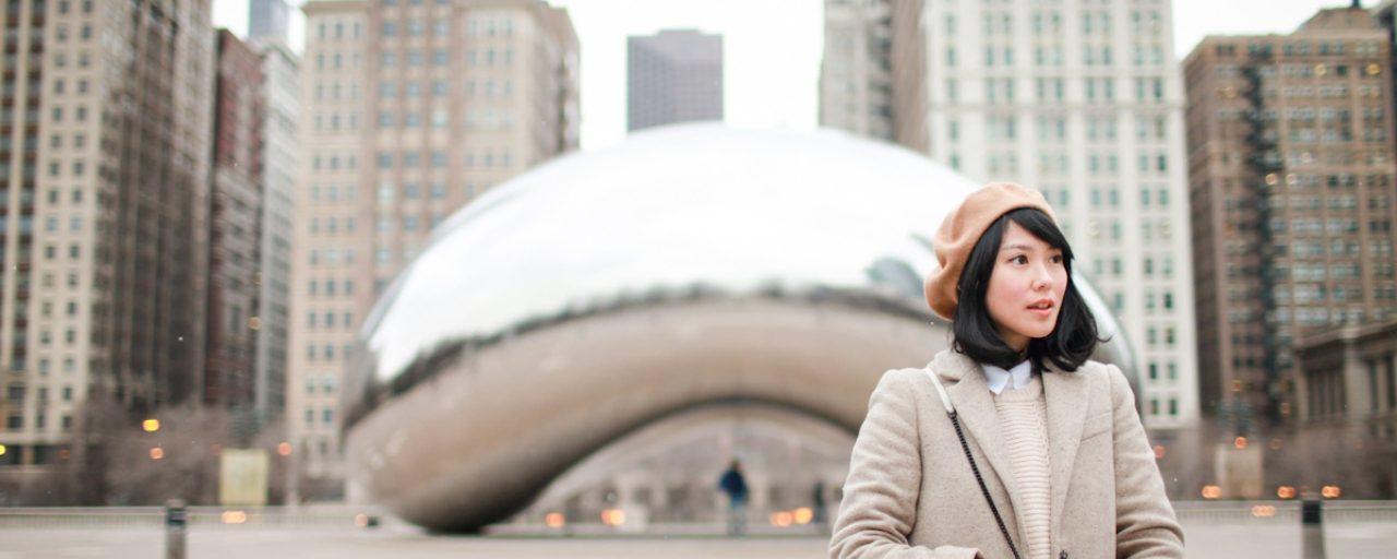 冬日優雅搭配學 | 芝加哥旅行踩點日記之一 [千禧公園]