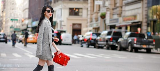 劍橋包穿搭 之用紅色劍橋包融入曼哈頓的穿衣誌