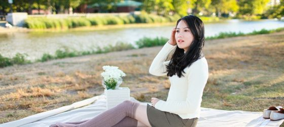 Fall Picnic|Denim Skirt & Jumper 秋日野餐誌